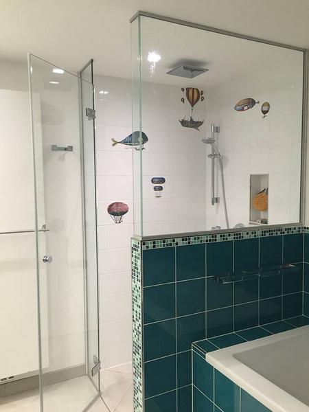 Porte douche en verre tremp foret bruxelles - Porte douche en verre ...